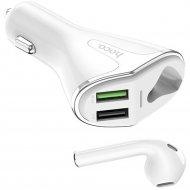 Bluetooth-гарнитура «Hoco» E47 белый.