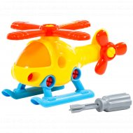 Конструктор-транспорт «Вертолёт» 16 элементов.
