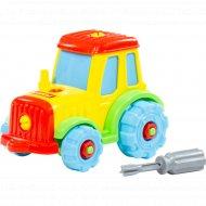 Конструктор-транспорт «Трактор» 20 элементов, в пакете.