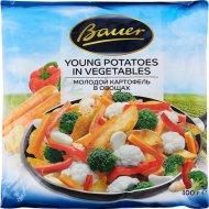 Молодой картофель «Bauer» в овощах, быстрозамороженный, 400 г