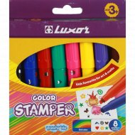 Фломастеры со штампом «Colors Stamper» 8 цветов.