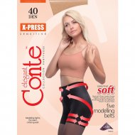 Колготки женские «Conte Elegant X-press» 40 den, mocco, 3.