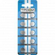 Элемент питания «Трофи» AG13/LR1154/LR44, часовой, алкалиновый, 2 шт.
