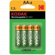 Аккумулятор «Kodak» 2600 mAh AA, 4 шт.