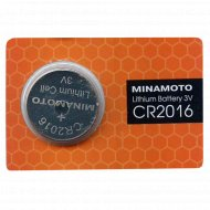 Элемент питания «Minamoto» Lithium CR2016, 1 шт.