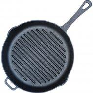 Сковорода-гриль чугунная, литая ручка 28 см.