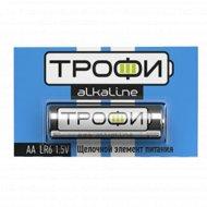 Элемент питания «Трофи» LR6, AA, алкалиновый, 1 шт.