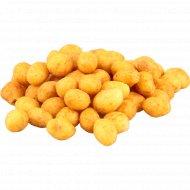 Арахис жареный со вкусом барбекю в хрустящей оболочке., фасовка 0.2-0.3 кг