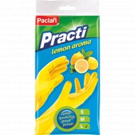 Перчатки резиновые «Paclan» с ароматом лимона, размер L.