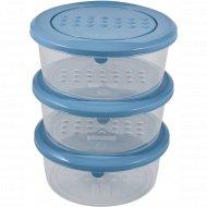 Набор емкостей для хранения пищевых продуктов «Polar» круглых, 3 шт.