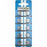 Элемент питания «Трофи» AG10/LR1130/LR54, часовой, алкалиновый, 2 шт.