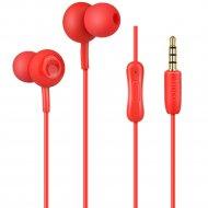 Наушники M24 с микрофоном «Hoco» красные.