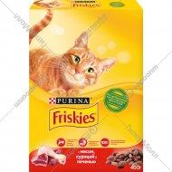 Корм для кошек «Friskies» с мясом, курицей и печенью, 400 г.