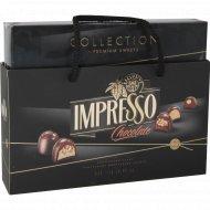 Подарочный набор шоколадных конфет «Impresso Premium» черный, 848 г.