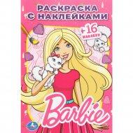 Раскраска с наклейками «Barbie» +16 наклеек.