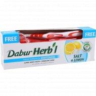Зубная паста «Dabur» травяная без фтора + зубная щетка, 150 г.