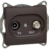 Розетка TV+SAT «Schneider Electric» Glossa, GSL000897