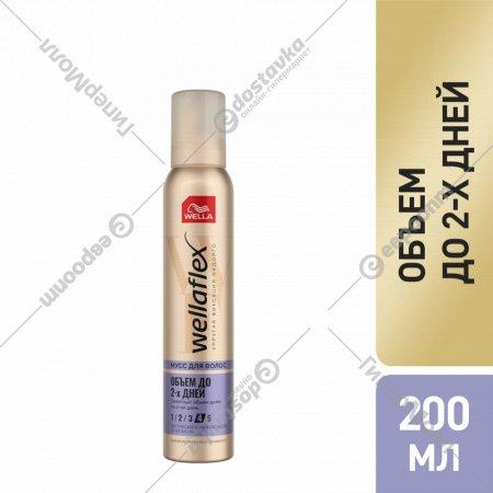 Мусс для укладки волос «Wellaflex» объем до 2-х дней, 200 мл.