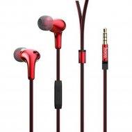 Наушники M30 с микрофоном «Hoco» красные.