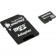 Карта памяти «Smartbuy» micro SDHC, 16 Gb.