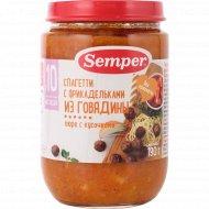 Спагетти «Semper» с фрикадельками из говядины, 190 г.