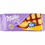 Шоколад «Милка» с соленым крекером Tuk, 87 г.