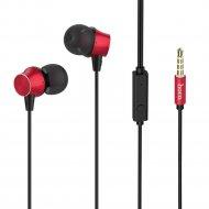 Наушники «Hoco» M51 с микрофоном, красные.