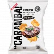 Снеки картофельные «Caramba» со вкусом мяса из печи, 100 г.