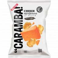 Снеки картофельные «Caramba» со вкусом сыра чеддер, 100 г.