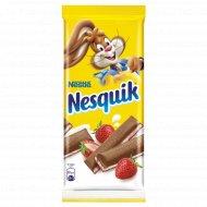 Шоколад «Nesquik» клубничная начинка 100 г.