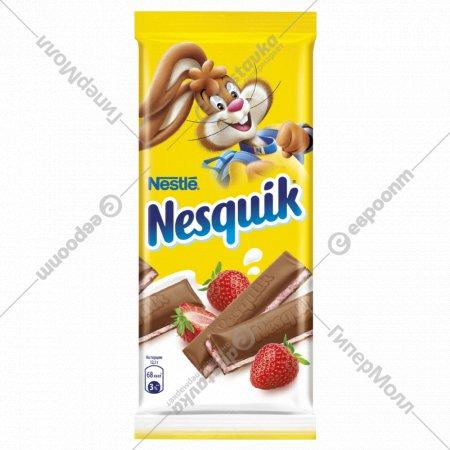 Шоколад «Nesquik» клубничная начинка, 100 г.