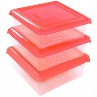 Набор емкостей для продуктов «Pattern» квадратных, 3 шт, 0.5 л.
