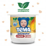 Продукт творожно-фруктовый «Тёма» с грушей и яблоком, 2.5%, 100 г.