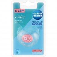 Соска-пустышка «Canpol babies» силиконовая, круглая, 1 шт.
