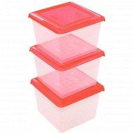 Набор емкостей для продуктов «Pattern» квадратных, 3 шт, 1 л.