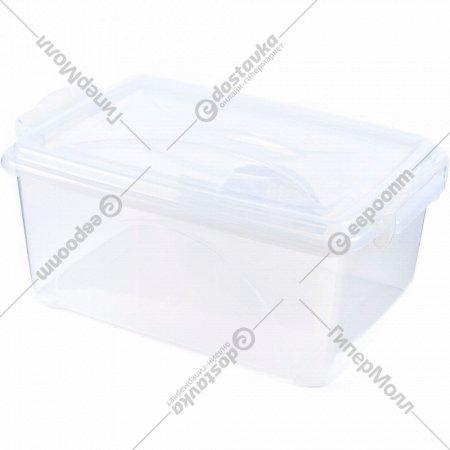 Ящик для хранения пластмассовой с крышкой 11.5 л.