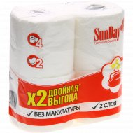 Туалетная бумага «SunDay» рулонная, 4 шт.