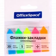 Флажки-закладки «Office Space» самоклеящиеся, 100 шт.