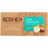 Шоколад черный «Roshen» c дроблеными лесными орехами, 90 г.