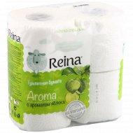 Туалетная бумага «Reina Aroma» яблоко, 4 рулона.
