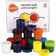 Гуашь «Martek» миллион идей 12 цветов.