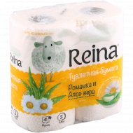 Туалетная бумага «Reina» ромашка и алоэ вера, 4 рулона.