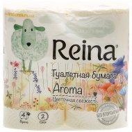 Туалетная бумага «Reina Aroma» цветочная свежесть, 4 рулона.