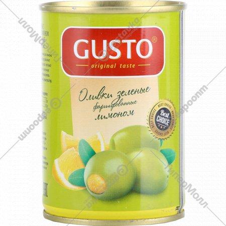 Оливки «Gusto» фаршированные лимоном, 280 г.