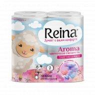 Туалетная бумага «Reina» цветочная свежесть, 8 шт.