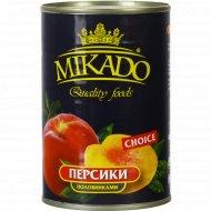 Персики «Mikado» половинками 410 г.