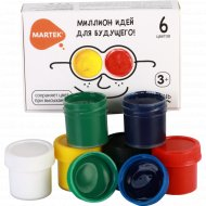 Гуашь «Martek» миллион идей, 6 цветов.