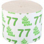 Бумага туалетная «БиоБум» 77 м, 1 рулон.