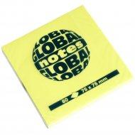 Бумага для заметок «Global Notes» неон 75х75 мм, 80 листов.