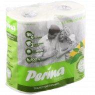 Туалетная бумага «Perina» многослойная, белая, 4 шт.